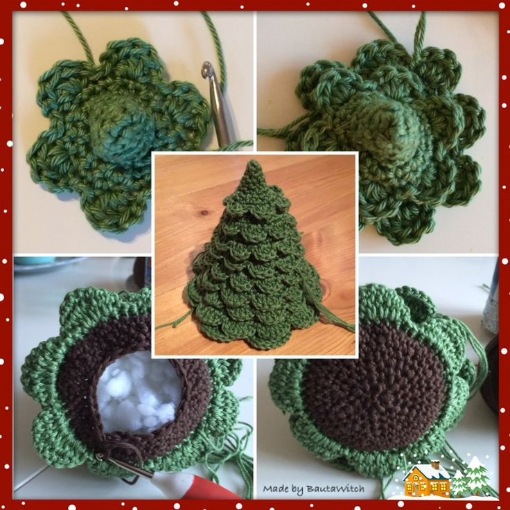 Christmas tree in progress - free pattern