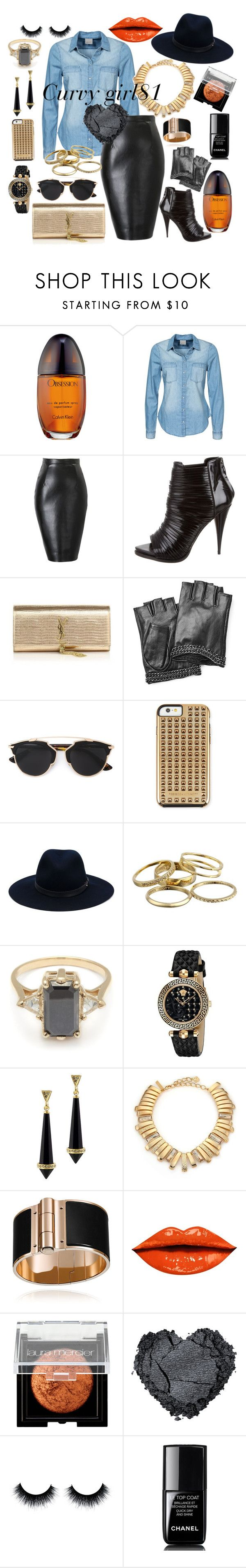 """strong gold"" by pretty-girl81 on Polyvore featuring moda, Calvin Klein, Vero Moda, Givenchy, Yves Saint Laurent, Karl Lagerfeld, Christian Dior, Rebecca Minkoff, rag & bone e Kendra Scott"