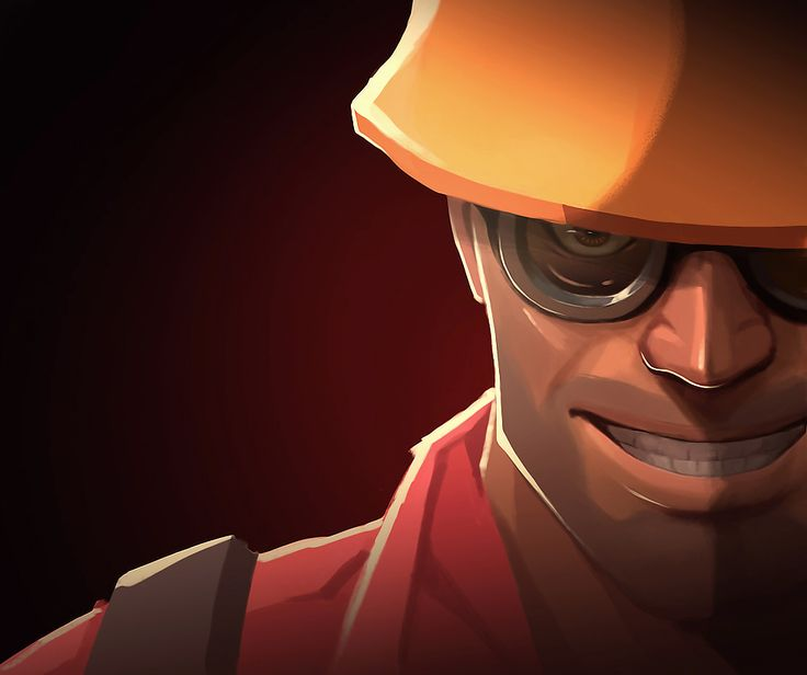 tf2 Engineer by ~biggreenpepper on deviantART
