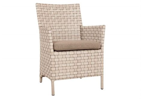 Owen Chair White Shell/Washed Taupe