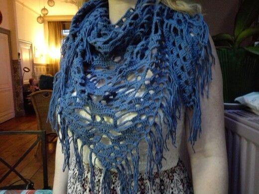 Doodshoofd sjaal in laine coton