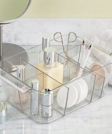 Loving this Clarity Divided Cosmetic Bin on #zulily! #zulilyfinds