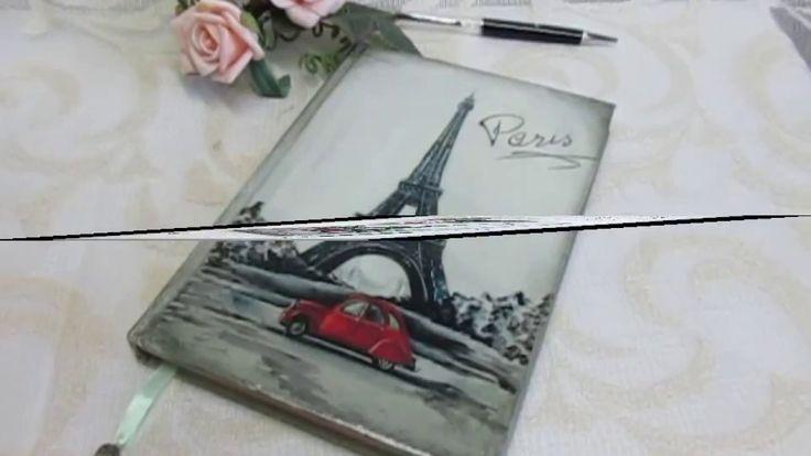 """Ежедневник  """"Хочу в Париж""""  -  декупаж. Ручная работа."""