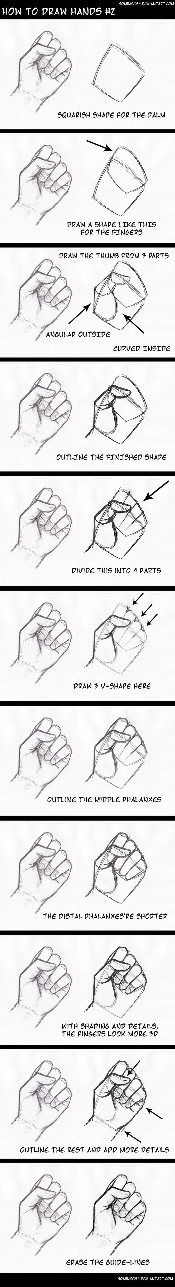 how to draw hands2 by nominee84 on DeviantArt Visit their gallery for other hand tutorials