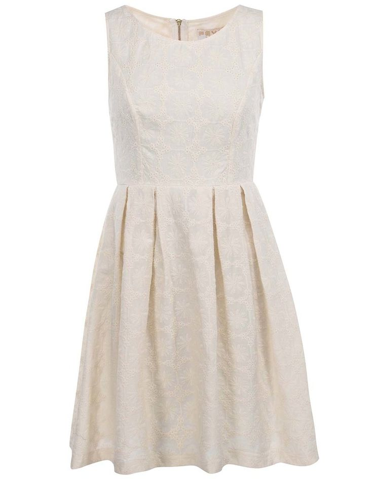 Fever London - Krémové šaty s výšivkou  Sahara - 1