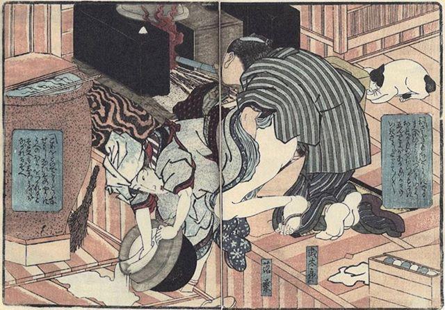 Multi-tasking マルチタスクプレイ ご飯作りながら子供作る 1837年