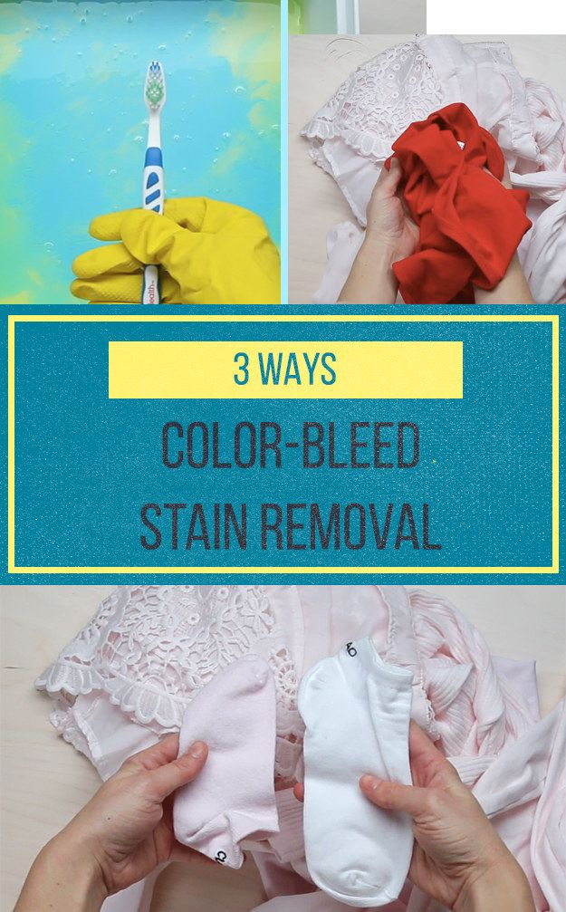 3 Cheap 2-Ingredient Ways To Banish Color Bleed
