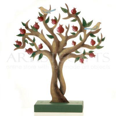 Χειροποίητο Δέντρο Ροδιάς Με Πουλιά Σε Βάση, χειροποίητα ζωγραφισμένο σε ξύλο. Κάθε κομμάτι είναι μοναδικό και δεν υπάρχει όμοιο του. Αποκτήστε το εύκολα online  ➜ http://goo.gl/JTUSHl ______________________ ➜ Παραγγελίες Site: www.artistegifts.com |
