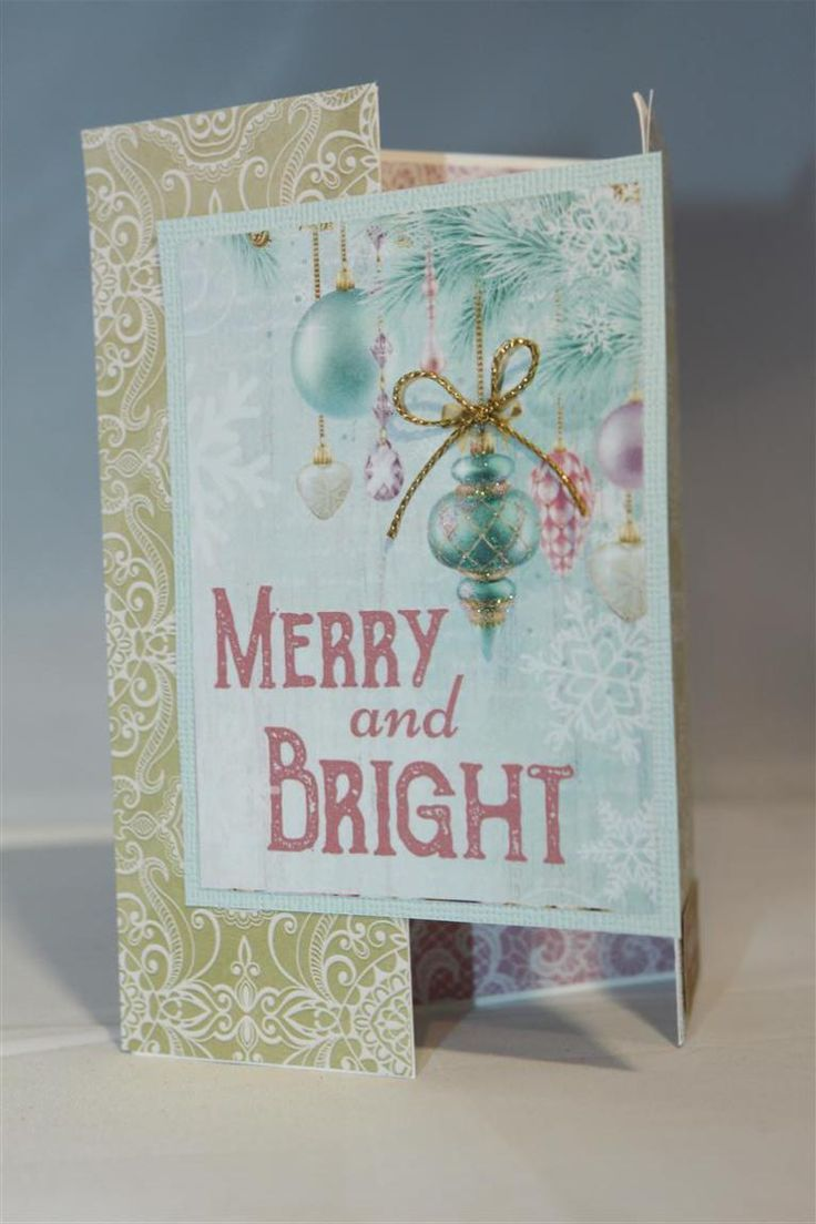 This is the last of the Kaisercraft Christmas wishes series for this year. I will put the rest away to start me off next year.The top card is another gatefold, while the bottom card uses up a few s…