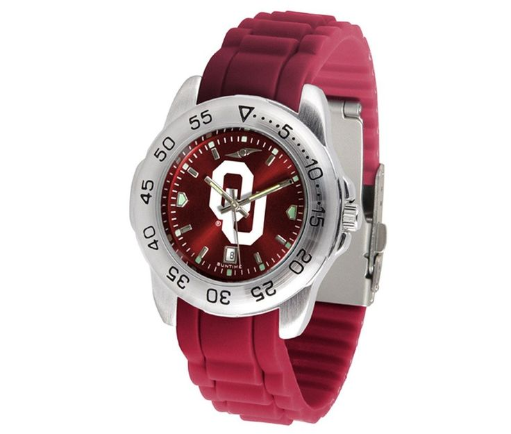 The Sport AnoChrome Oklahoma Sooners Watch is available in a Mens style. Showcases the Sooners logo. Color-coordinated silicone band. Free Shipping. Visit SportsFansPlus.com for Details.
