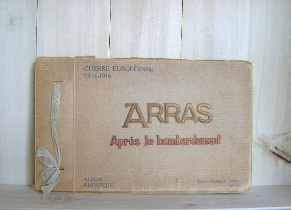 Antique Photo Book Arras Apres le by CrookedHouseBooks on Etsy