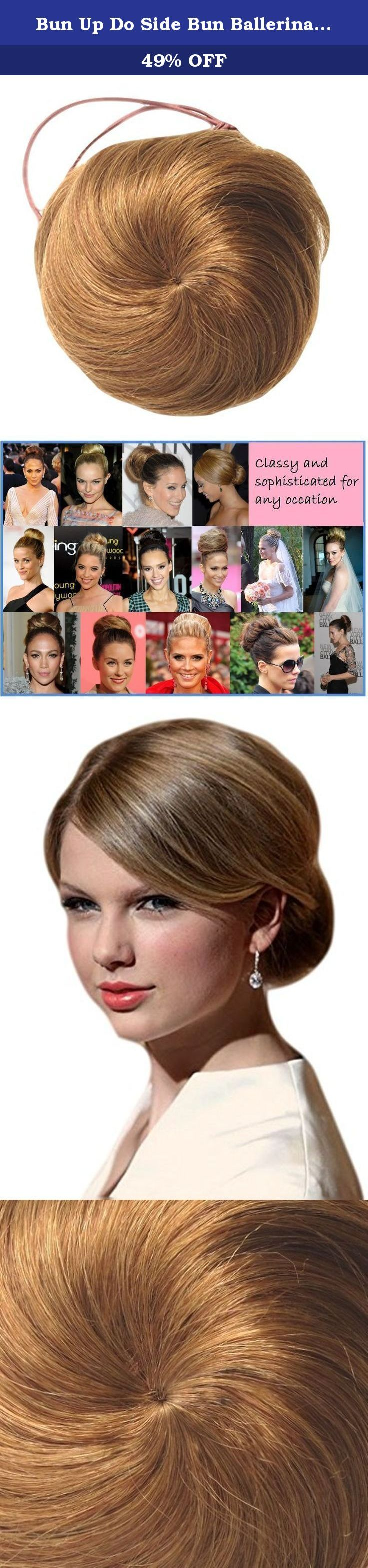 Bun Up Do Side Bun Ballerina Tight Or Even Top Knot In Wonderful Strawberry C Synthetic. This appealing little messy bun can be styled in the classic Ballerina look . Or why not try the celbrity side bun look This type of faux bun is low maintenance and can be styled differently depending on the desired result. The bun can be styled to obtain an elegant and classic updo, appropriate for formal events or it can be styled to obtain a more casual side or back bun, hairstyle. Even on quite…