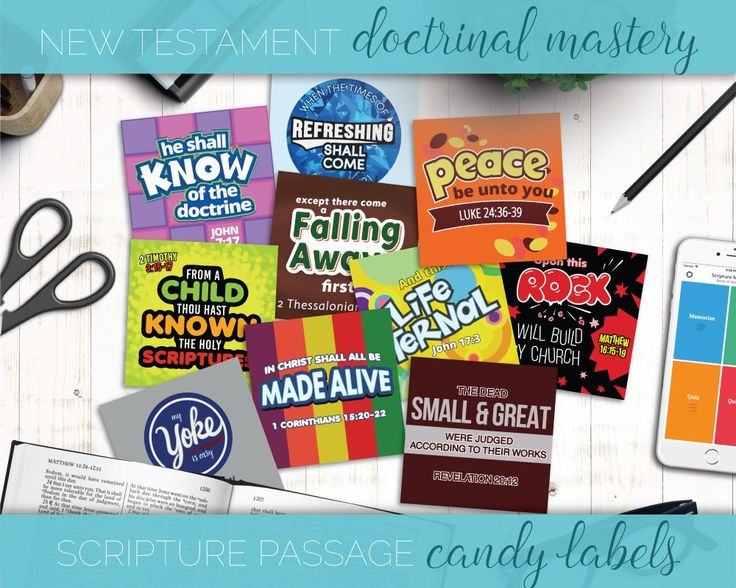 New Testament Doctrinal Mastery Scripture Candy Pun Labels