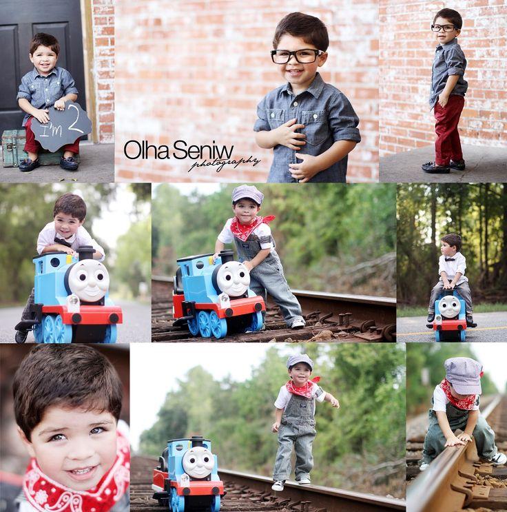 Thomas the train birthday session