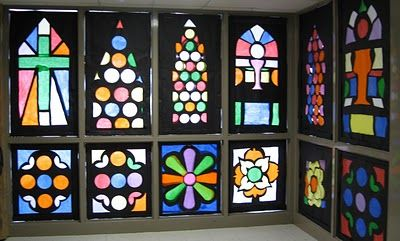 tissue paper stained glass.  Think about making it in a picture frame and then back lighting it.