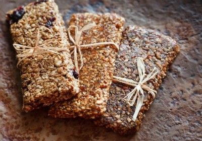 Healthy Dessert Energy Bars with Apple and Cinnamon