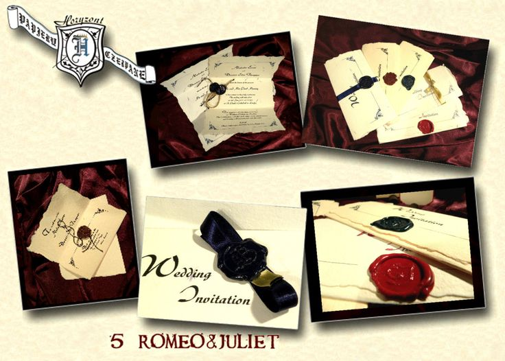 Romeo And Juliet Wedding Invitations: Pin By NatthaRin On Sealing Wax