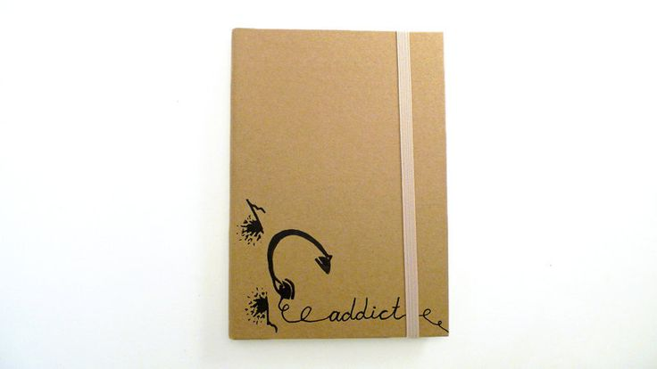 New to ArtyBeezzz on Etsy: Personalized A6 Notebook Moleskine style with music theme / hard cover / journal Hand painted / Personalised christmas gift for him (18.00 EUR)