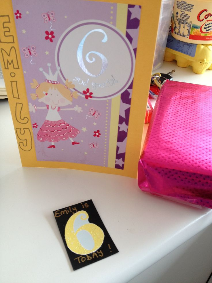 recycled cards to make personalised card and badge