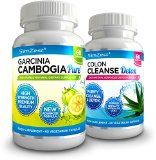 Garcinia Cambogia and Detox Colon Cleanse Combo - Achieve Faster Weight Loss Results with Garcinia Cambogia Detox Diet Pills - UK Manufactured Highest Quality Diet Pills - Cleanse, Detox and Purify Your Digestive System - The Perfect Start To Any Weight Loss, Diet or Healthier Living Programme - UK's Best Selling Pure Garcinia Cambogia - Full Two Month Garcinia Detox Weight Loss Course (60x Garcinia Cambogia + 60x Colon Cleanse Detox) - http://trolleytrends.com/health-fitness