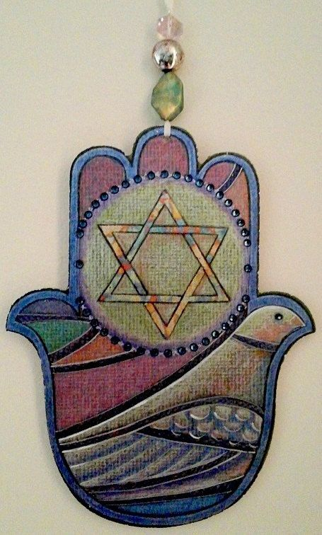 Peace and Light Hamsa Wall Hanging, $39.95