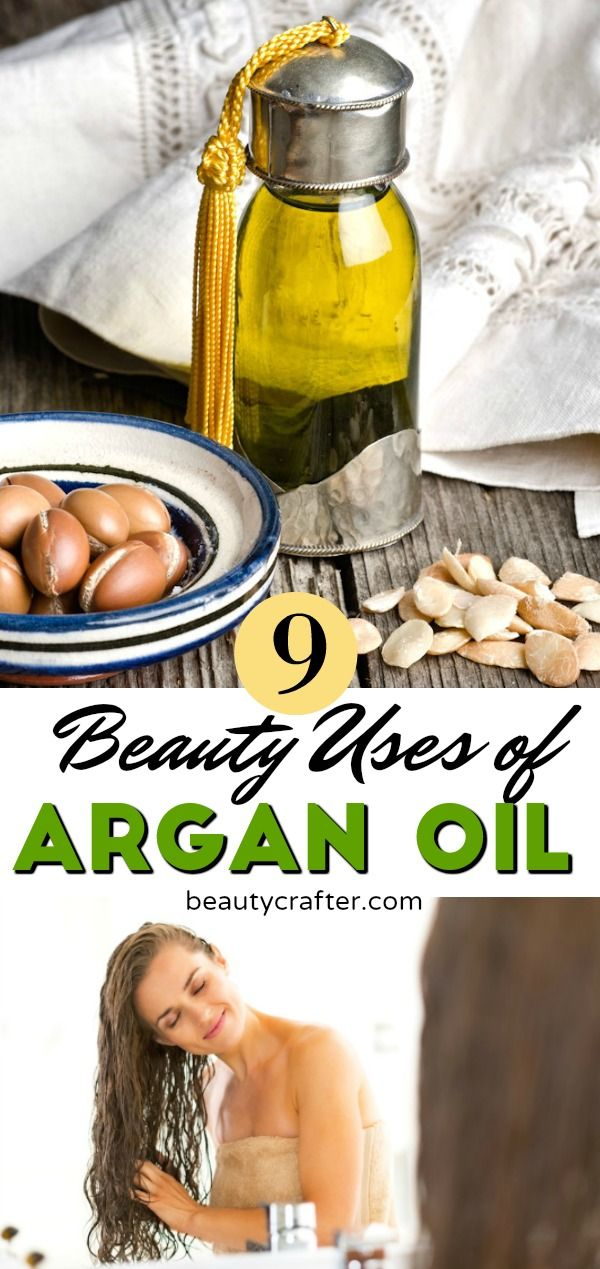 Argan Oil Benefits and Uses in Beauty. Nourish your hair, skin and nails with Argan oil, a great addition to your natural beauty routine. #arganoil #nails #haircare #skincare via @beautycrafts