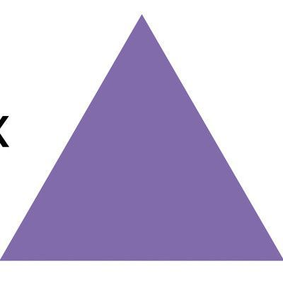 """The Decal Guru Triangle Pattern Wall Decal Color: Lavender, Size: 4"""" H x 4"""" W x 0.01"""" D"""