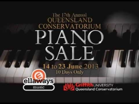 Ellaways Music Queensland Conservatorium Piano Sale is Here!  We're pleased to announce that Ellaways will be hosting the 17th Annual Con Piano Sale at our Kedron and Underwood stores.  There will be new and second hand pianos, digital and stage pianos, and keyboards and organs, all discounted for the 10 day sale thanks to support from our suppliers.  Be sure you don't miss out!