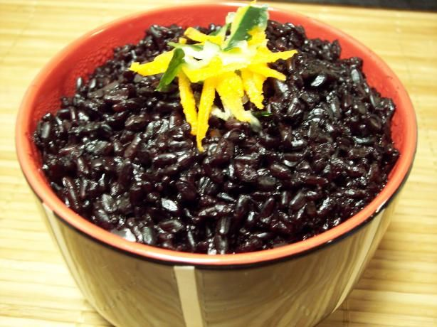 "How to cook Chinese Black Rice (Forbidden Rice)- ""Also known as Emperor's Rice. This rice has a nutty flavor and is somewhat chewy. Sweet, savory, and indigo in color."""