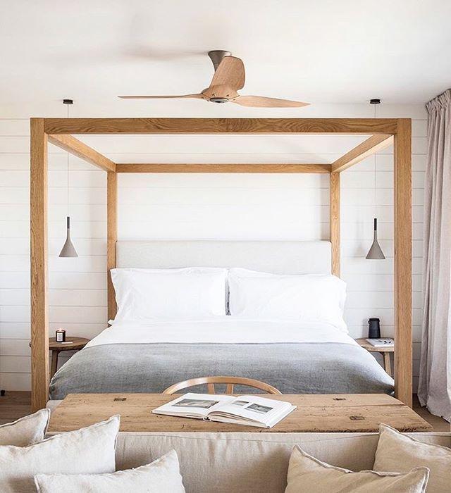 Simple Four Poster Bed Frame Hotel Room Design Home