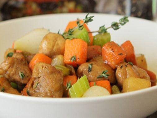 Porc aux légumes à la mijoteuse   Arctic Gardens