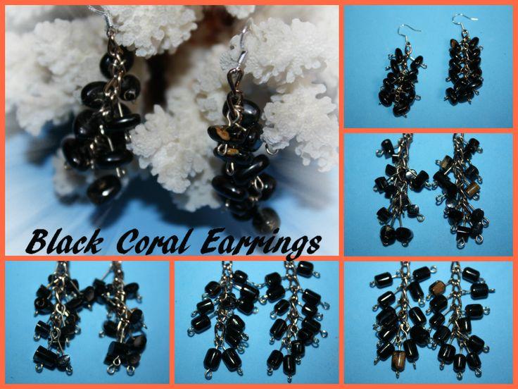 @BlackCoral4you  black coral earrings http://blackcoral4you.wordpress.com/necklaces-io-collares/stock/ pendientes de coral negro mail: blackcoral4you@galicia.com