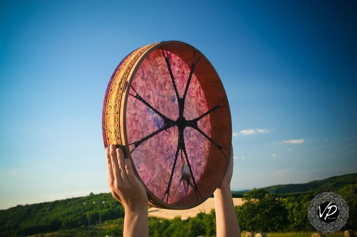 18'Shaman drum, Frame drum, new moon drum,Stage drum,Deer Hide paited                       – VPdrums