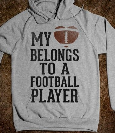 My Heart Belongs to a Football Player Hmmm, or soccer player, I'm taking this the British way ;)
