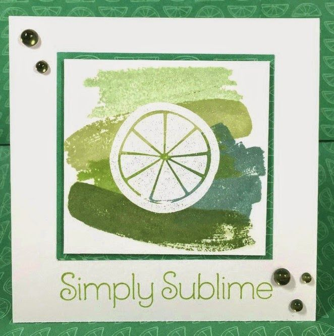 Lime Ombre Taste of Summer card #ctmhtos