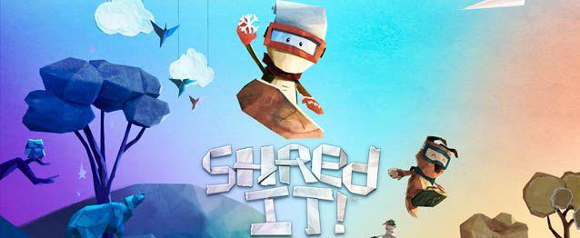 Shred It! per Android vi porta a fare snowboard in uno splendido mondo di carta!