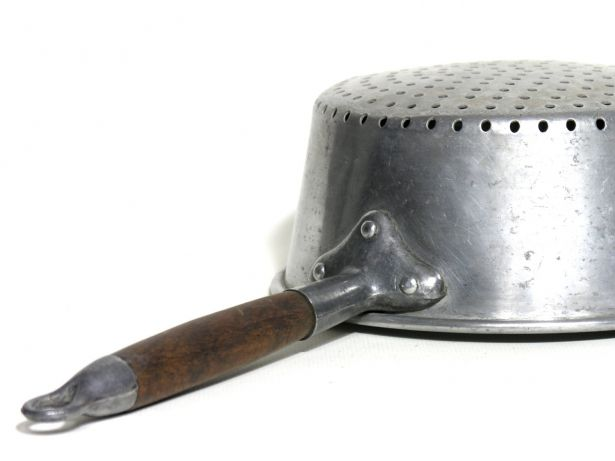 Vintage Aluminium And Wood Strainer - Rustic French Colander 1930 - French Kitchenware - Rustic Shabby Chic French Decor by LArriereBoutique on Gourmly