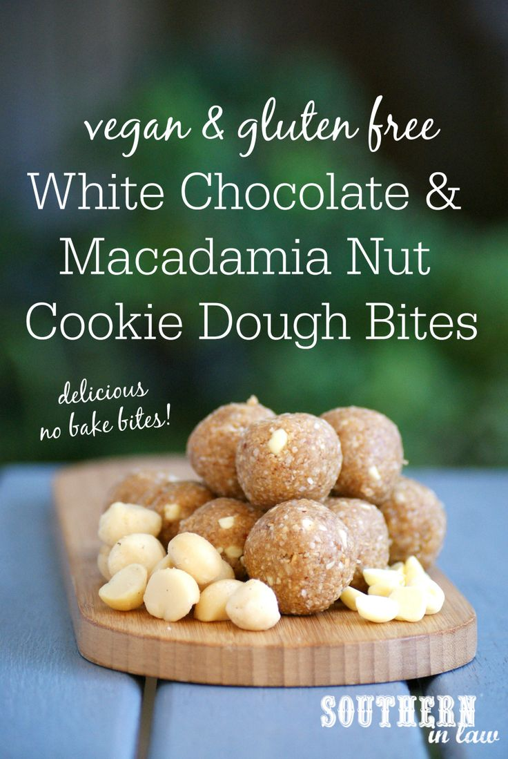 Inspired by our favourite cookie, this White Chocolate Macadamia Nut Cookie Dough Bites Recipe is healthy AND delicious! They are also gluten free, refined sugar free, clean eating friendly, peanut free, egg free, dairy free and have a grain free option too!
