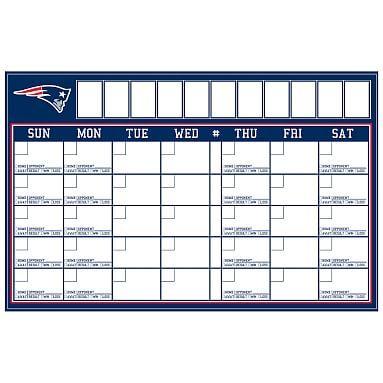NFL Calendar, New England Patriots