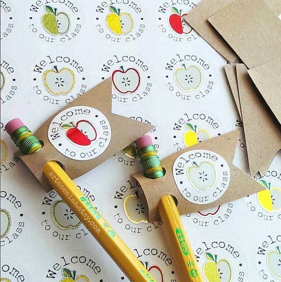 Cute pencil toppers are a simple and thrifty way to greet new friends! Get the back to school season started right ;) Available exclusively at Artesenias.etsy.com