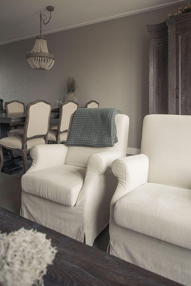 fauteuil linnen losse hoes hoffz
