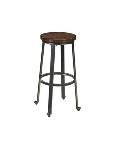 Ashley Furniture Signature Design Challiman Tall Stool Rustic Brown Set of 2 Pub Height