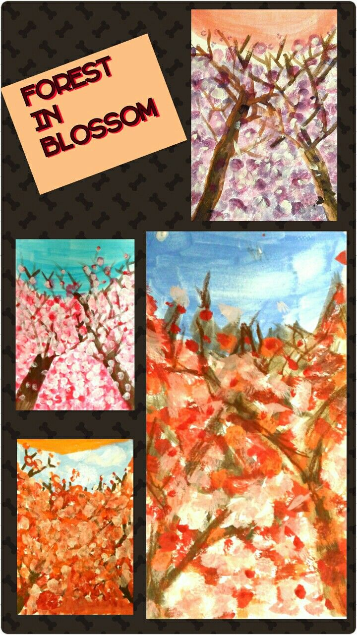 A very impressive #artproject! My 9-year-olds really enjoyed playing with colours while adding flowers on the branches! They freed themselves and perceived the flowers as colours without actually describing them.
