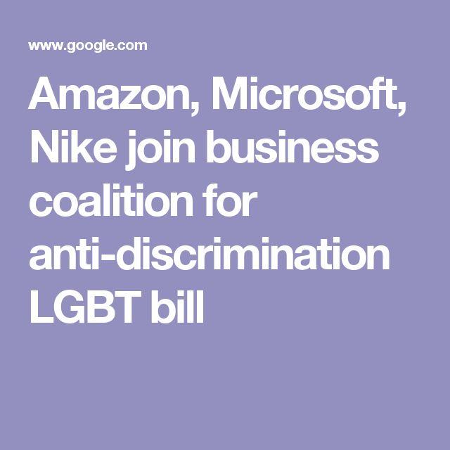 Amazon, Microsoft, Nike join business coalition for anti-discrimination LGBT bill