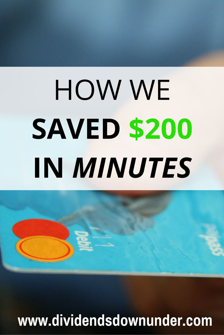Who wouldn't want to save $200? This is one of those life lessons that I will definitely be taking forward with me.. Australian Personal Finance blog https://dividendsdownunder.com