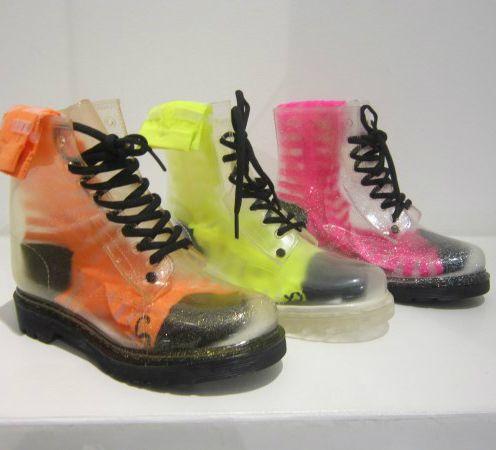 Trasparent boots by #GsixWorkshop #boots #original #shoes #FolliFollie #FW14collection