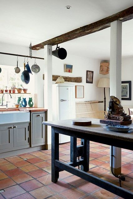 The Hampshire house and farm buildings of antique dealer and decorator Max Rollitt create a relaxed base for both family and work - discover more on HOUSE by House & Garden.