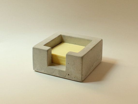 Concrete PostIt Note Holder by roughfusion on Etsy