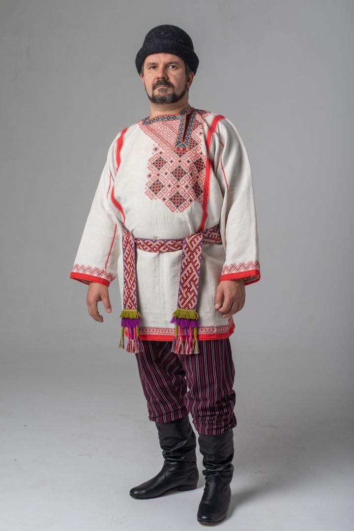 Картинка мужской русский костюм