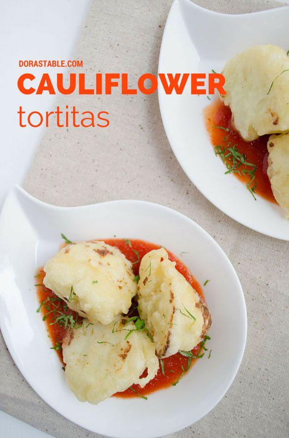 CAULIFLOWER TEMPURA BITES in chipotle-tomato sauce.